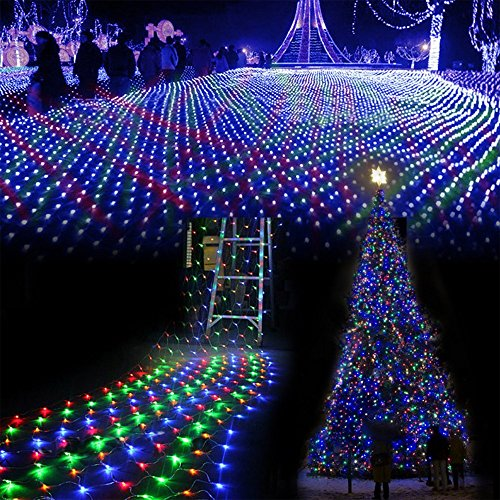100 LEDs 10 x 1.6 Feet Long RGBW Chain Net String Lights for Diwali Decoration