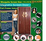 KARP Premium Quality Magnetic Screen Door Full Frame Velcro - Keep Bugs Out Lets Fresh Air In. No More Mosquitos or Flying Insects - Children and Pet Friendly, Instant Bug Mesh with Top-to-Bottom Seal, Snaps Shut Like Magic for a Hands-Free Bug-Proof Curtain - (3 Foot Length X 7 Foot Height) (Coffee Color), Package weight - 635 Gram