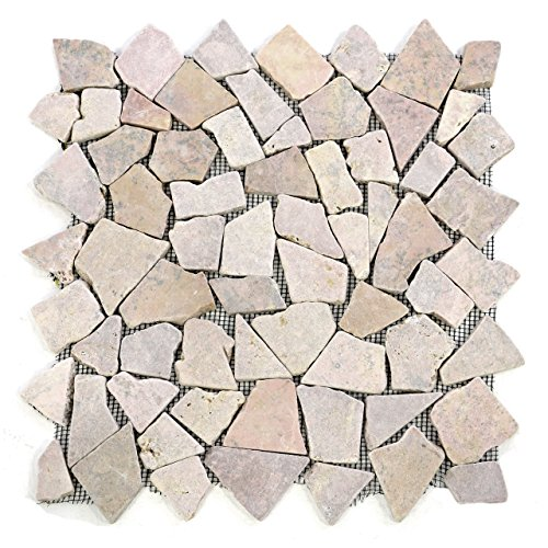 divero-9-matten-33-x-33cm-marmor-naturstein-mosaik-fliesen-fur-wand-boden-bruchstein-beige-rosa