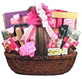 Pretty In Pink - Large Valentine Gift Basket For Her