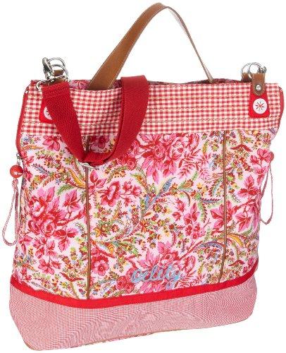 Oilily Shoulderbag OES1184-3005 Damen Schultertaschen, Pink  (Pink / Rosa / Grün), 39 x 15.5 x 42.5 cm (B x H x T)