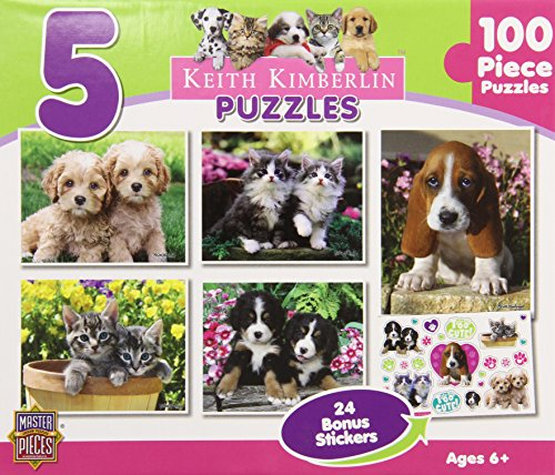 Masterpieces Keith Kimberlin Puppies And Kittens Puzzle Assortment - Pack Of 5 front-917896