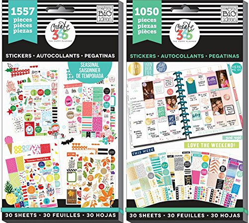 Create 365 Happy Planner Sticker Value Pack Bundle with Brilliant Year and This Colorful Life (Set of 2 Items) (Value Pack Stickers compare prices)