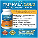 Organic Triphala GOLD, 650 mg, 120 Vegetarian Capsules (Organic Triphala Extract for Detox, Cleansing, and Weight-loss) GMO-free, Solvent-free, High Potency Extract