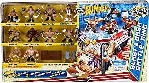 WWE Wrestling Rumblers Exclusive Blast & Bash Battle Ring with 10 Mini Figures & 5 Accessories at Sears.com