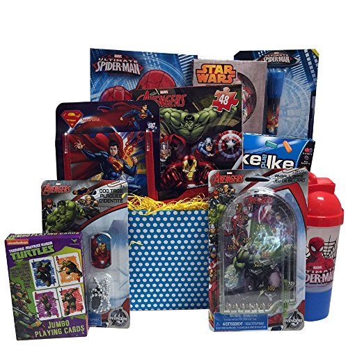 Super Hero Christmas Gift Baskets for Kids, Fun and Games Ideal Christmas Gifts for Kids 3-9 (Spiderman Easter Basket compare prices)