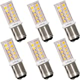 12V BAY15D 1157 LED Bulb 3W 300Lm 2700K Warm White,DC Bayonet Double Contact Base, AC10-18Volt & DC10-30 Volts, 25W Halogen Equivalent Interior RV Camper Marine Boat Trailer Lighting-6 Pack (Color: 2700K Warm White)