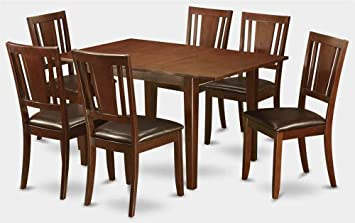 7-Pc Wooden Dining Set with Table