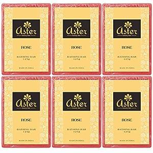 Aster Luxury Rose Premium Handmade Bathing Bar - Set of 6 (125g each)