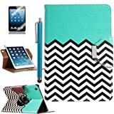 Pandamimi ULAK(TM) 360 Rotating PU Leather Stand Card Holder Case Cover with Auto Sleep/Wake Function for Apple iPad Mini 7.9 Inch (not suit for ipad mini 2) with Stylus and Screen Protector (Pattern-FOLLOW THE SKY)