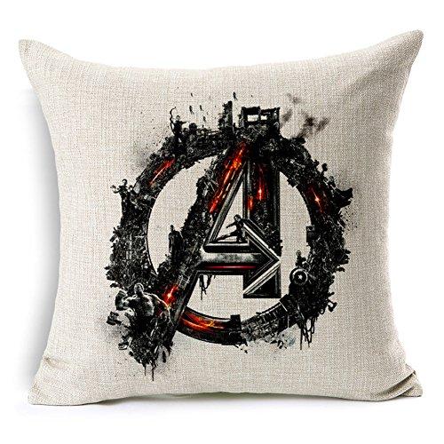 Poens Dream Cuscino, Avenger of Age Ultron Cotton Linen 17.7inch Square Decorative Throw Pillow Case Cushion Cover