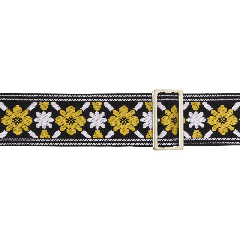 Ace Guitar Strap Vintage Style Yellow and White Flowers Lennon 1