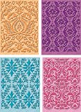 Provo Craft Cuttlebug Cricut Companion Embossing Folder Bundle 4/Pkg Damask Decor