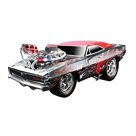 Maisto - 32209 - Maquette De Voiture - Dodge Charger R/t '69 - Noir/rouge - Echelle 1/18