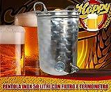 Hoppy Pentola 50 Litri Inox Filtrante Bazooka E Termometro Altissima Precisione Birra
