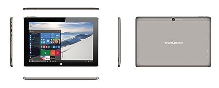 """Thomson Prestige Tablette tactile 10,1"""" (25,76 cm) (32 Go, Windows 10, 1 port(s) USB 3.0 1 prise(s) jack Noir/Gris)"""