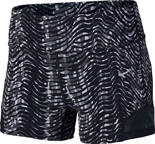 "Nike Womens' 3"" Sidewinder Epic Lux Running Shorts Medium Black Grey White"