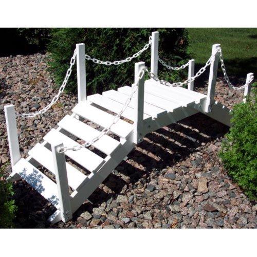 Prairie Leisure 4-ft. Chain Rail Decorative Garden Bridge