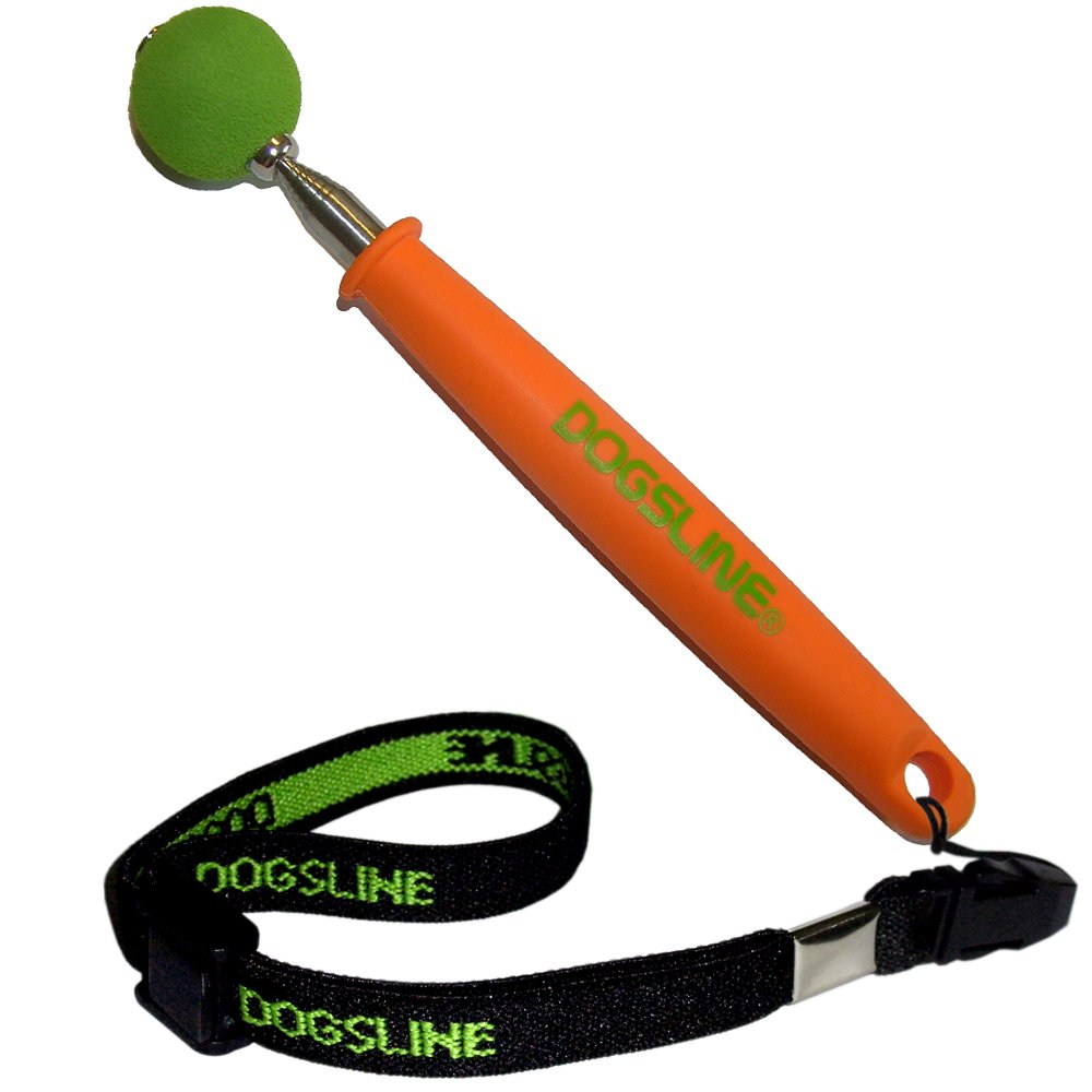 DOGSLINE Target Stick with Elastic Hand Strap , PET Education and Training for dog cat horse , stainless steel 17-73cm Orange , DL13TSA