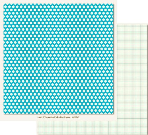 Turquoise Polka Dot 12X12 Lush Collection Paper 