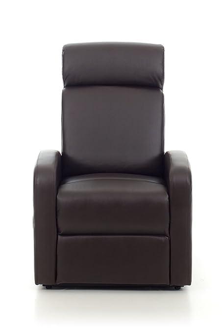 Poltrona Recliner con Motore Katia colore marrone 3 posizioni con telecomando