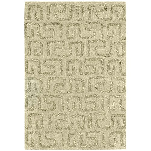 Safavieh Soho Collection SOH416D Handmade Light Green Wool Area Rug, 2 feet by 3 feet (2' x 3')