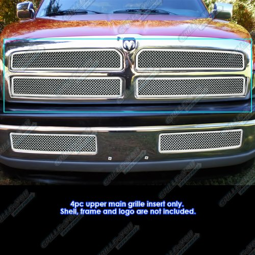 1994-2001 Dodge Ram Pickup Stainless Steel Mesh Grille Grill Insert (1998 Dodge Ram 1500 Grill Emblem compare prices)