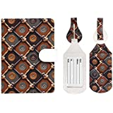 JAVOedge Cool Prints and Patterns RFID Blocking Passport Case with Pen Holder and 2 Matching Luggage Tags