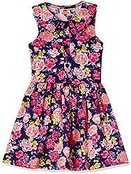 UFO Girls' Dress (AW16-WR-GKT-358_Navy_10 - 11 years)