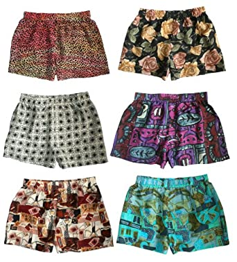"""Silk Boxer Shorts for Women - Assorted 3-Pack - XS (25""""-27"""") - Silk Boxers Set"""