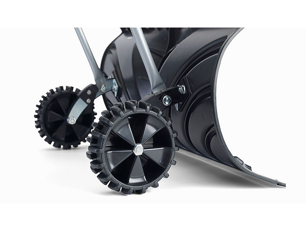 UH-SP217 Rolling Snow Pusher Shovel with Wheels and Adjustable Length W/ 26 Blade