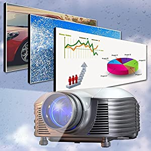 Medialy B100 Vidéoprojecteur HDMI à LED 1800 lumens HD