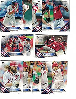 Washington Nationals / Complete 2016 Topps Series 1 Baseball Team Set. FREE 2015 Topps Nationals Team Set WITH PURCHASE!