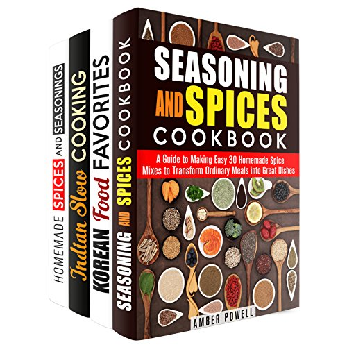 Spice Mixes Box Set (4 in 1): Homemade Spices and Seasoning Perfect for Your Korean and Indian-Inspired Recipes (Dried Herbs) by Amber Powell, Martha Olsen, Eva Mehler, Julie Peck