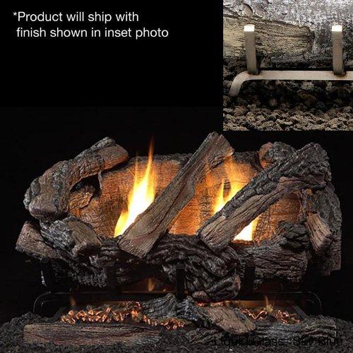 Firegear Revolution EX/SS Outdoor Ventless Burner with Big Horn Gas Log Set, Fuel Type: Natural Gas