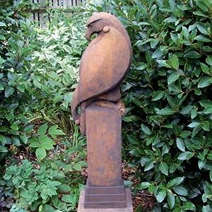 Large Garden Statues - Eagle Modern Sculpture (Rust)