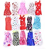20pcs Multicolor Beautiful Handmade Party Dress Fashion Clothes For Barbie Doll Play House Dressing Up Costume