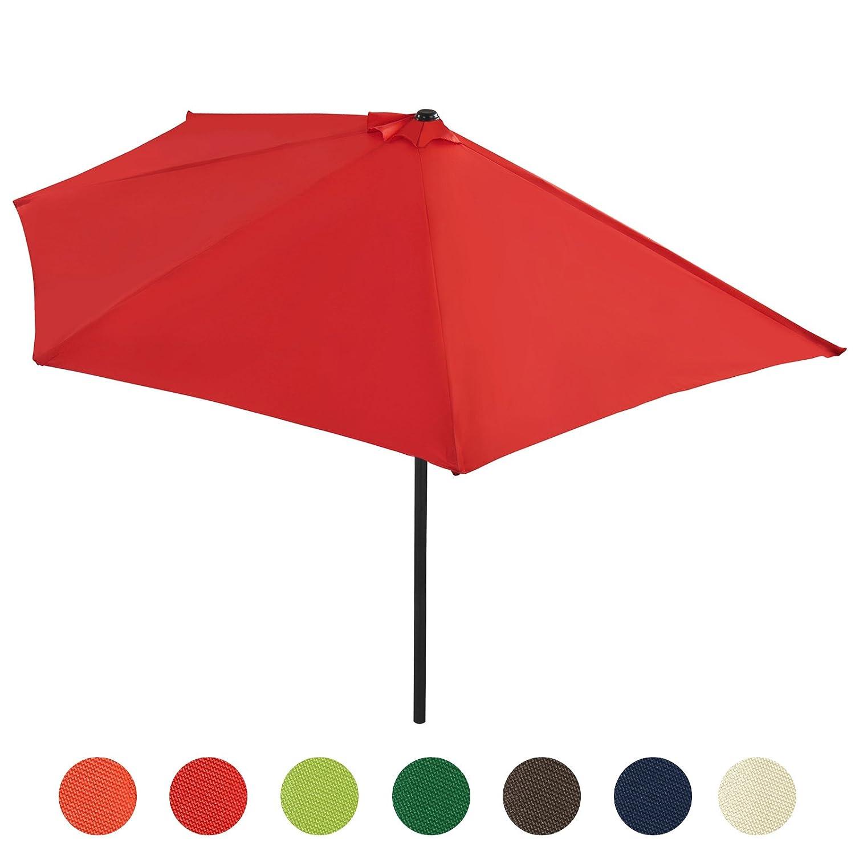 Sonnenschirm Strandschirm Gartenschirm Halbrund mit Kurbel Schirm Balkonschirm Sonnenschutz in sieben verschiedenen Farben jetzt kaufen