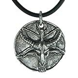 Exoticdream Big Inverted Pentagram Samael Lilith Baphomet Satanic Sabbatic Lucifer Wiccan Pewter Pendant + 18
