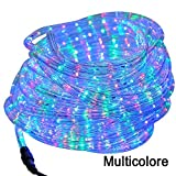 Striscia LED luci Led decorazione addobbi per natale per interni ed esterni (Multicolore, 20 Metri)