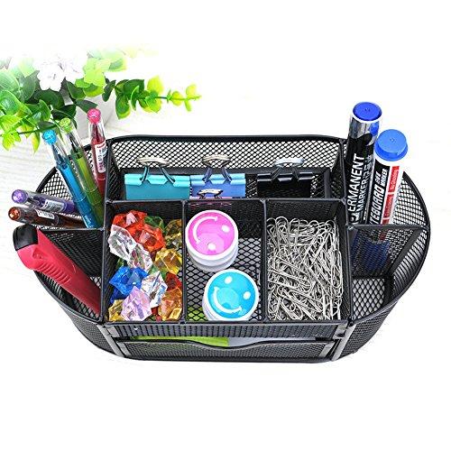 yi-lian-boite-de-rangement-multifonctions-fournitures-de-bureau-stylo-porte-plume-metallique-noir