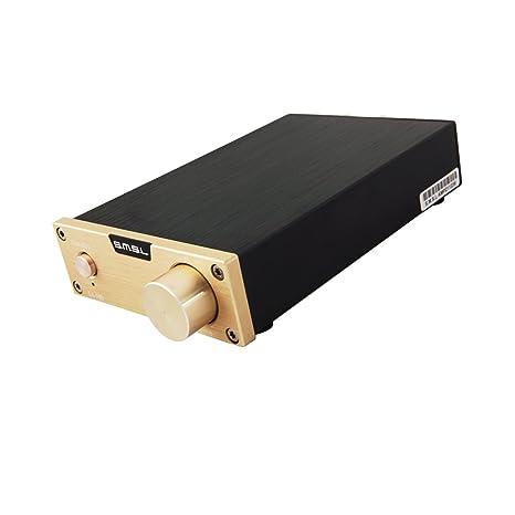 SMSL SA-98E 160w*2 TDA7498E Hi-Fi Ampli/Amplificateur stéréo numérique digital avec efficacité 85% pour anniversaires, fêtes, concerts, musique au supermarché etc. (Noir/Argent/Or)