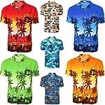Mens Hawaiian Shirt Palm Beach Print...