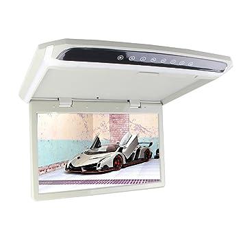 MontšŠ 15,6 pouces Toit de voiture moniteur Flip Down moniteur de plafond Moniteur LCD TFT voiture lecteur avec deux vidšŠos style de voiture d'entršŠe
