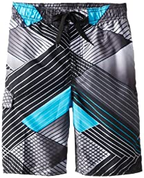 Kanu Surf Big Boys\' Y.O.L.O. Swim Trunks, Black, Medium (10/12)