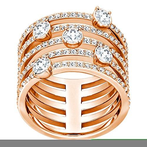 Swarovski donna-anello Creativity Wide anello Cristallo Bianco Taglia 57 (18,1) - 5221421