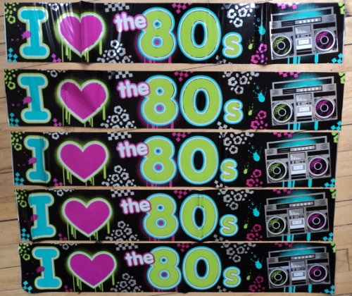 Totally 80s Foil Banner Decoration