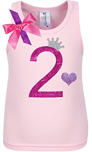 Bubblegum Divas Little Girls 2nd Birthday Pink Purple Princess Shirt
