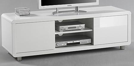 5.5.4.6.2666: modernes TV-Board - TV-Lowboard - weiss hochglanz - hochglanz weiss mdf - TV-Schrank weiss