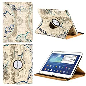HHI Multi Angle 360 Stand Case for Samsung Galaxy Tab 3 (10.1) - Blue Atlas (Package include a HandHelditems Sketch Stylus Pen)